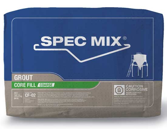 Spec Mix Core-Fill Grout – CF-02 Coarse
