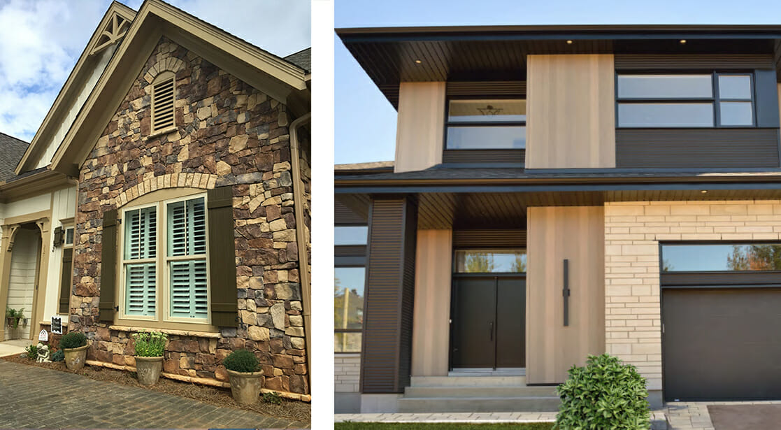 For the Ultimate in Curb Appeal, it's the Look of Stone and Wood.